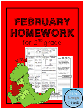 2nd Grade Spiral Language Arts Homework- February