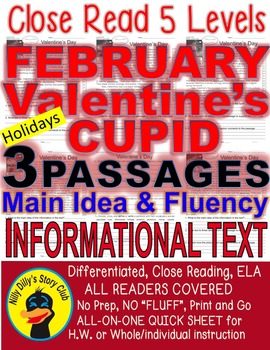 Valentine's Day, Cupid, February Leap Yr FACTS 5 Level Pas