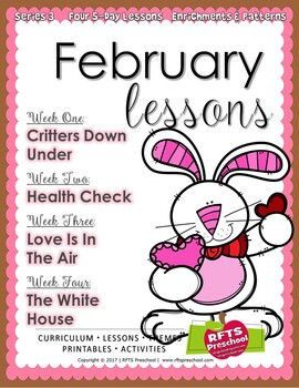 February Lesson Plans Series 3 [Four 5-day Unit]