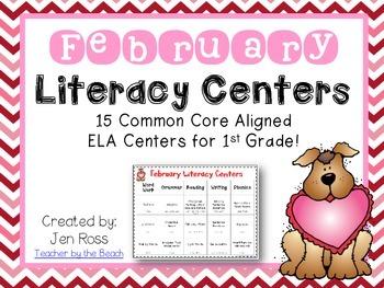 February  Literacy Centers Menu {Common Core Aligned} Grade 1