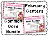 February Literacy & Math Centers Menu BUNDLE {CCS Aligned}