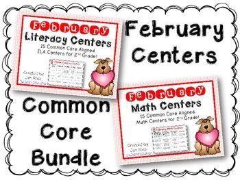 February Literacy & Math Centers Menu BUNDLE {Common Core