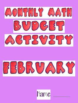 February Math Budget Activity