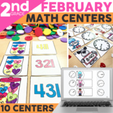 February Math Centers & Activities for 2nd Grade