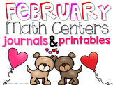 February Math Centers and Printables