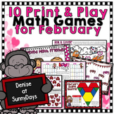 February Math Games - Print and Play!