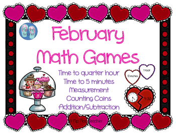 February Math Games - Time, Measurement, Money, Facts