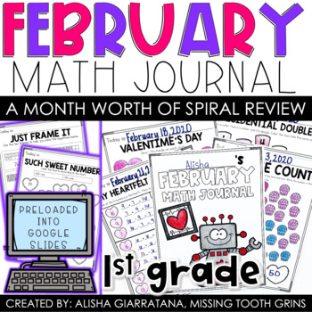 February Math Journal (1st Grade)