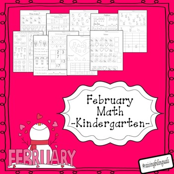 February Math (Kindergarten) Free