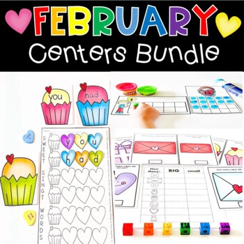 February Math & Literacy Centers BUNDLE