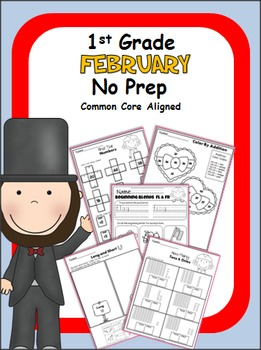 February Math No Prep Pack - 1st