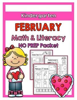 {Kindergarten} February Math and Literacy