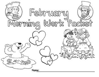 February Morning Work Packet