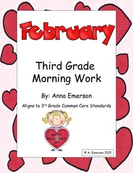 February Morning Work Third Grade Common Core Standards