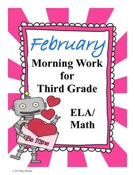 February Morning Work for Third Grade