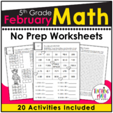 February NO PREP Math Packet - 5th Grade