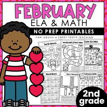 February NO PREP Packet-Second Grade