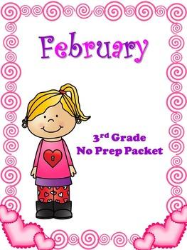 February No Prep 3rd Grade