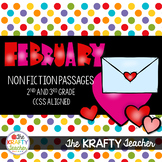 February Non-Fiction Passages, 2nd, 3rd Grade, Valentine's