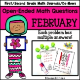 February Open-Ended Math Questions for Journals or Do-Nows