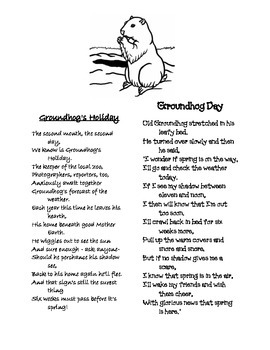 February Poems: Groundhog's Holiday & Groundhog Day