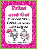 February Print and Go! First Grade Math