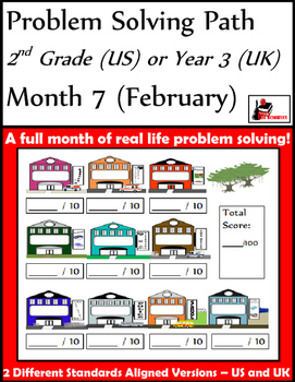 February Problem Solving Path: Real Life Word Problems for