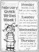 February Quick Writes