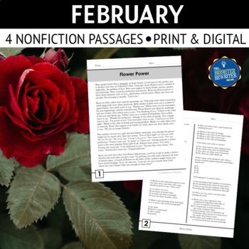 Valentine's and Presidents' Day Nonfiction Reading Passages