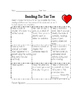 February Reading Homework Tic Tac Toe Reading Log