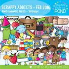 February Scrappy Addicts - 2016