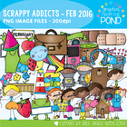 February Scrappy Addicts - 2016