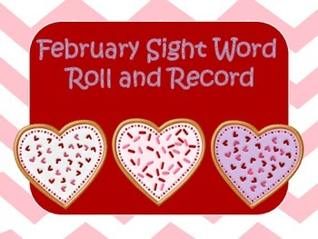 February Sight Word Roll and Record