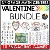 February Third Grade Monthly Math Centers BUNDLE