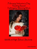 February/Valentine's Day Bellringers for Middle & High Sch