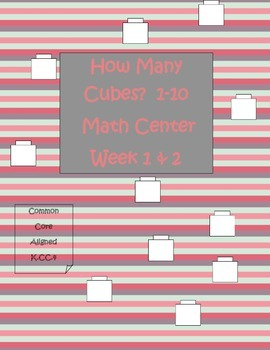 Valentine's Day Counting Cubes Math Station Weeks 1-2-3-4