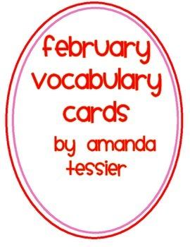 February Vocabulary Cards