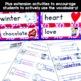 February Vocabulary Words (Valentine, Groundhog, Presidents)