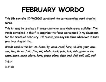 February WORDO