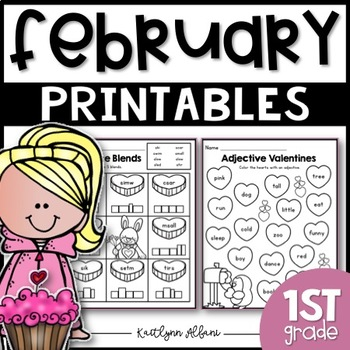 February Winter Printables - Math and Literacy Packet for