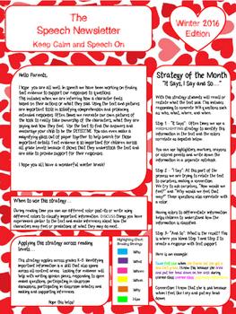 February/Winter Speech Newsletter