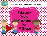 February (Valentine's Day) Word Problems for 1st Grade (TA
