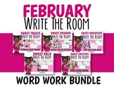 February Word Work Write The Room Bundle