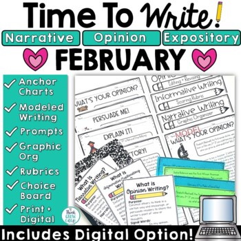 February Writing Prompts: Posters, Models, Rubrics, and Or