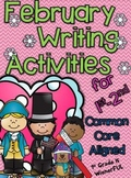 February Writing Activities for 1st-2nd Grades!