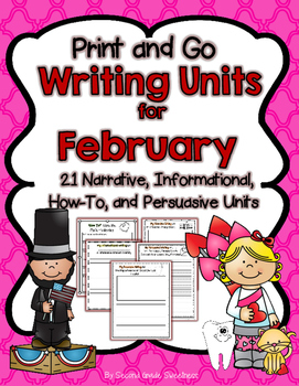 February Writing Bundle (How-To, Informational, Narrative,