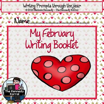 February Writing Booklet {21 Writing Prompts & Pictures to Color}