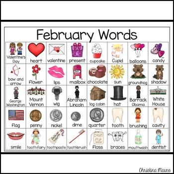 February - Writing Words