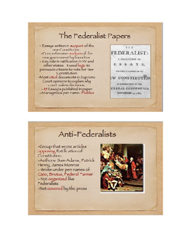 Constitution Ratification Unit: The Federalist vs. Anti-Fe