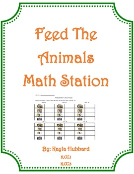 Feed The Animals Math Station